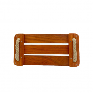 Balançoire en bois sur-mesure en frêne verni