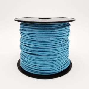 Tresse Polyester avec âme parallèle 3mm Bleu Pastel Lisse