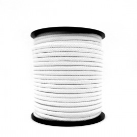 Core-less Bleached Braided Cotton Rope