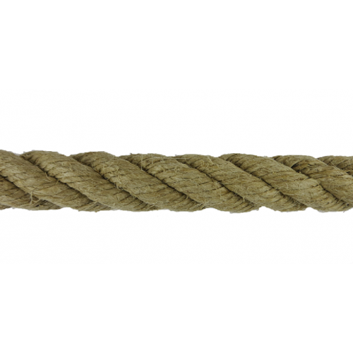Polished hemp rope 8mm Spool 100m