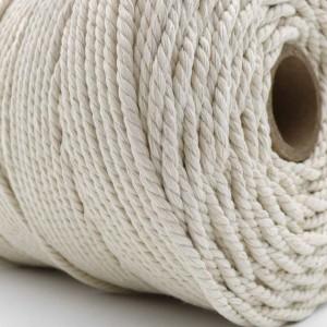 Cordeau Coton Macramé Blanc 4mm 1kg Français