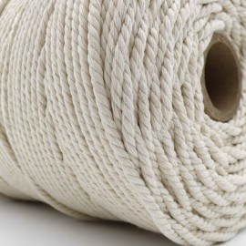 Macrame White Cotton Line 4mm 1kg French