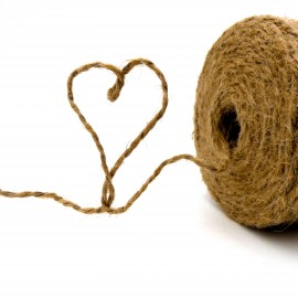Vine Twine Natural Jute and Steel Wire 0,44 Rolls 500Gr 290m