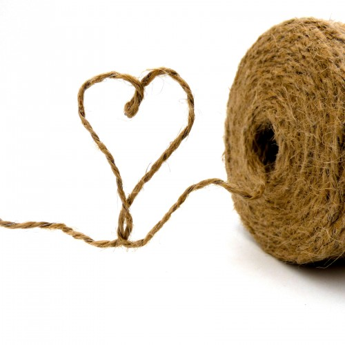 Natural Vine Jute Twine with Steel Wire 0,44 Biodegradable Rolls 500Gr