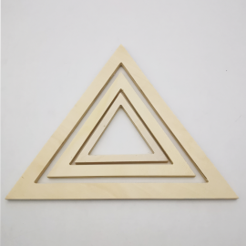 Lot Triangles en Bois - 3 pcs