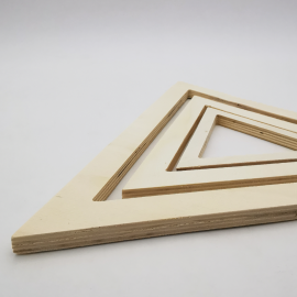 Lot Triangles en Bois Naturel