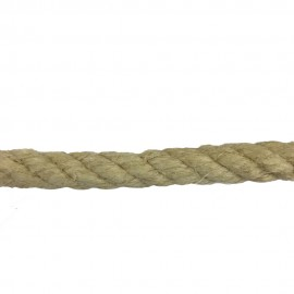Corde chanvre naturel 26mm fibres apparents aspect rustic au mètre
