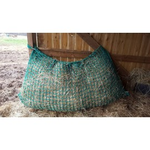 """Malla de heno en forma de """"bolsa"""" color verde 1x1m"""