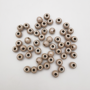 Perle Céramique Artisanale Beige Rosé 8mm