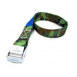 Polyproplylene webbing strap with cam buckle
