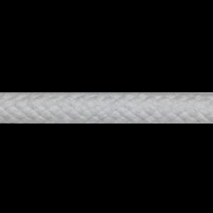 Coton Tressé Blanchi avec âme 6mm vente au mètre