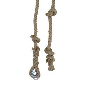 Cuerda de escalada de cáñamo con nudos