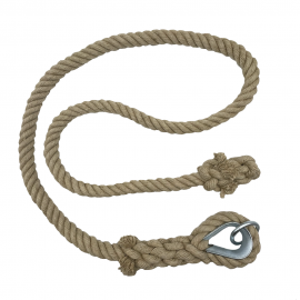 Cuerda lisa para escalar de cáñamo 5m diam30
