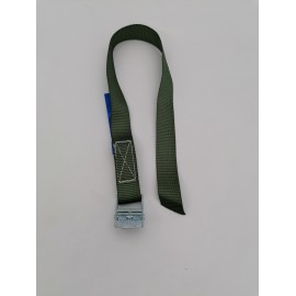 Green Polyproplylene webbing strap with cam buckle