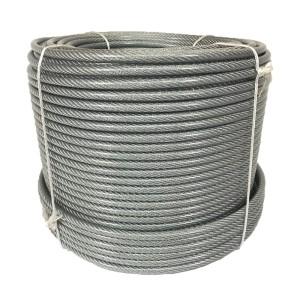 Cable de acero recubierto de plástico