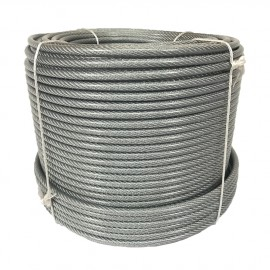 Plastic-coated steel cable