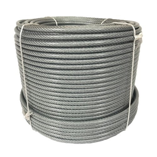 Plastic-coated steel cable 8mm 100m spool