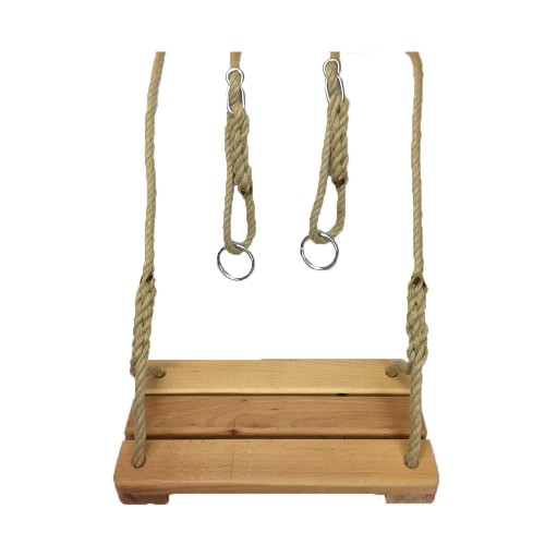 Wooden Swings Adjustable 2 to 4m - PP Rope Imitation Hemp