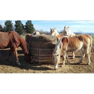 Filet à Foin forme ''Chaussette'' Camel