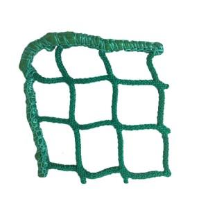 Hay net in the shape of a''Tablecloth'' in a bin