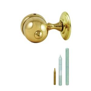 Rope Banister solid brass varnished