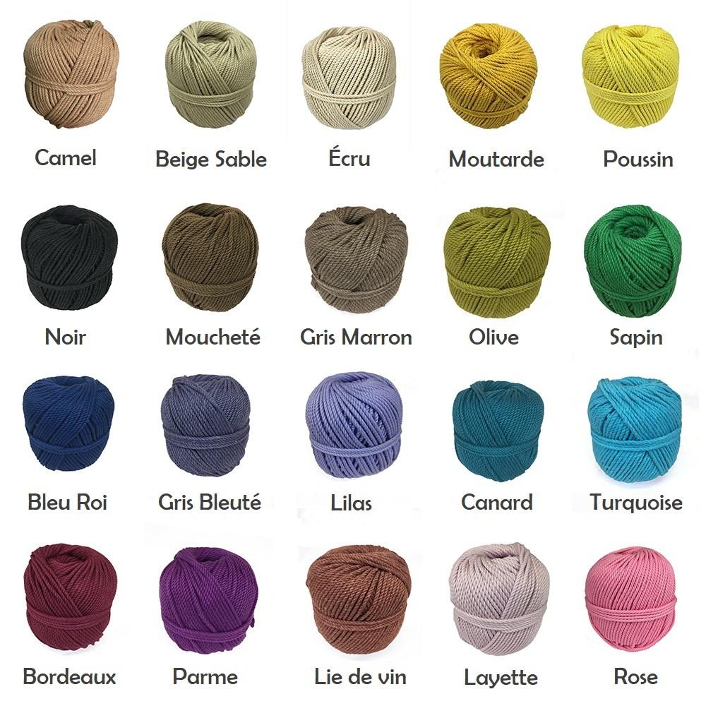 Quelle Ficelle Pour Macramé corde coton macramé et crochet 2, 3, 4mm artisanal
