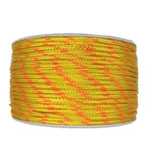 Cordón de poliéster trenzado amarillo