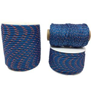 Cordon Polyester Tressé Bleu