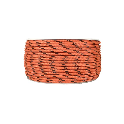 Cordon Polyester Tressé Orange