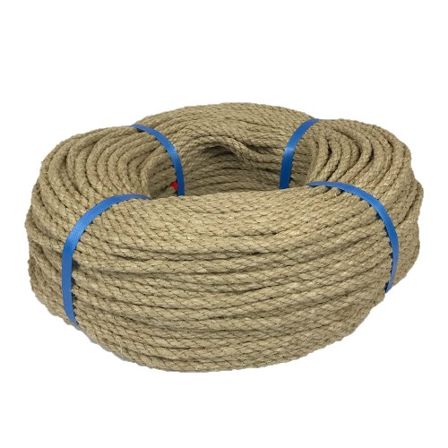 Corde chanvre poli 8mm bobine 100m