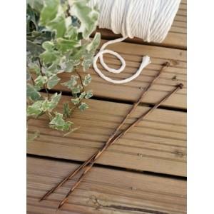 Aiguille à tricoter à boule naturelle 40cm 2.5mm