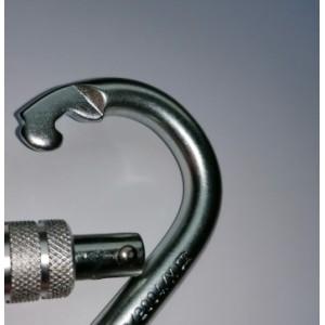 Mousqueton Sécurité Acier avec vis de blocage sans oeil RR2200kg Norme EN362:2004/b