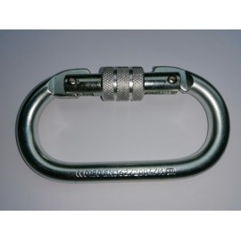 Steel Safety Carabiner with locking screw RR2200kg Standard EN362:2004/b